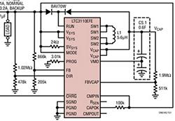 设计要点:双向 DC/DC 稳压器和超级电容器充电器