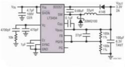 基于开关稳压器的汽车导航系统电源设计