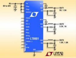 Linear推出三输出同步单片式降压型开关稳压器 LT8601