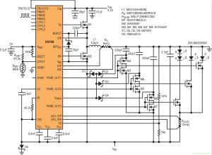 提供准确度为±3%的满标度电流检测的20A LED驱动器