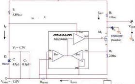 利用精密仪表放大器实现负压电流检测