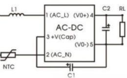 1W/3W超轻小体积AC/DC 非隔离电源——LSxx-K3BxxSS系列