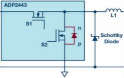 采用额外的肖特基二极管减少干扰
