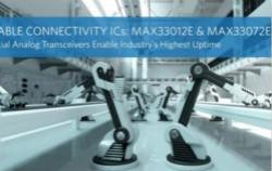 Maxim推出控制器局域网总线接收器和RS-485半双工收发器