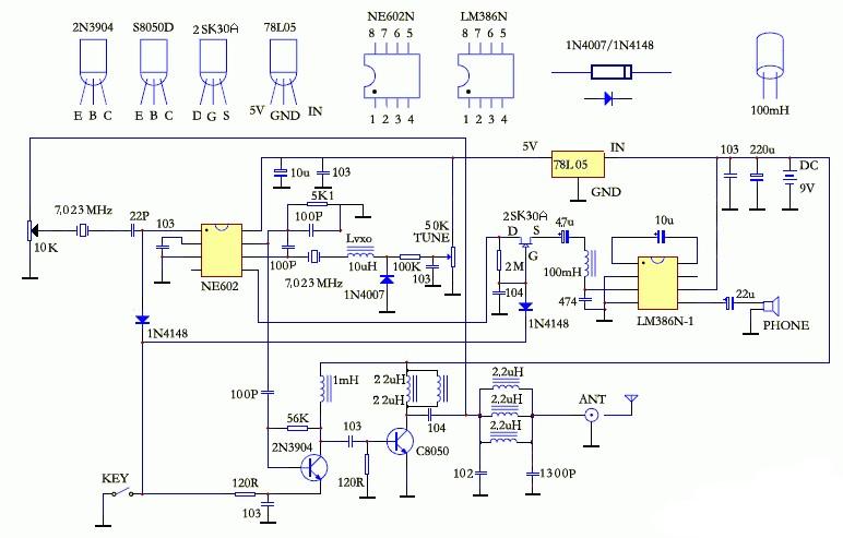 矿石收音机电路图