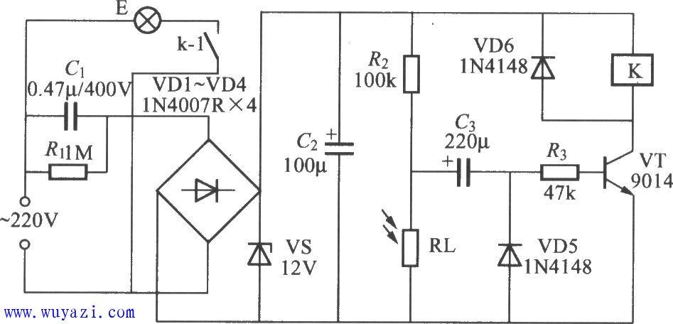 光控开关电路图-基础知识-电子元件技术网电子百科