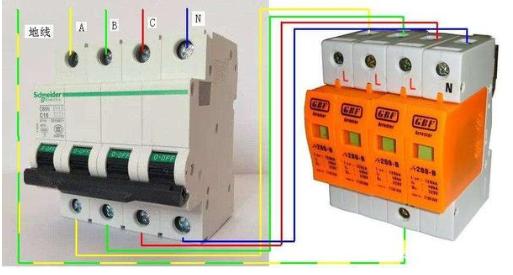三相四线漏电保护器的接线方法