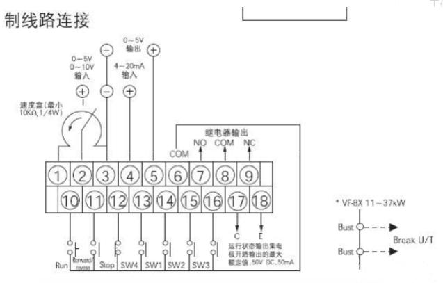 电位器与变频器如何连接