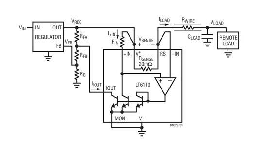 如何通过任意长度的铜线控制远端负载的电压~