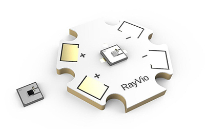 RayVio UV LED 技术现通过 Digi-Key 面向全球供应