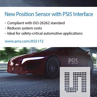 艾迈斯半导体推出具有PSI5接口的新型汽车级磁位置传感器