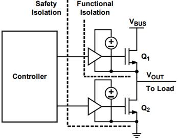 半桥配置隔离端的供电