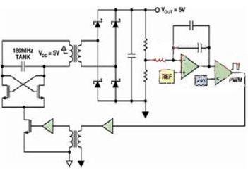 对于利用微变压器集成隔离功能的原理简述