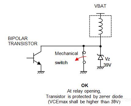 继电器的振动,可让MOSFET在开关关闭时被破坏