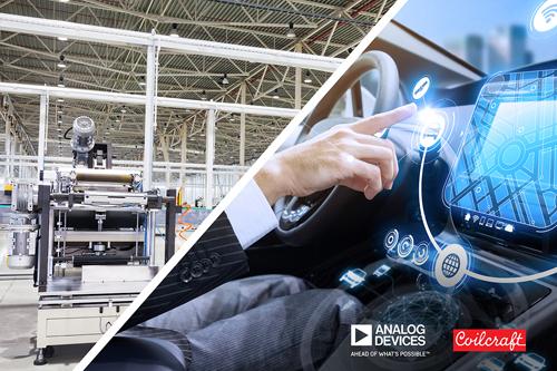 贸泽联手Analog Devices与Coilcraft推降噪解决方案,有效抑制汽车和工业应用中EMI干扰