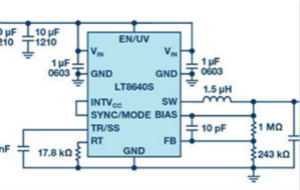 42 V、6 A(峰值7 A)、超低EMI辐射、高效率降压型稳压器