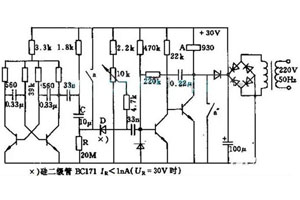 五种继电器开关电路图分析