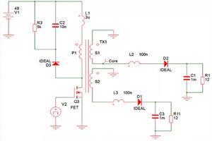 设计经验:这个电路用同步整流代替二极管后,出现意想不到的效果