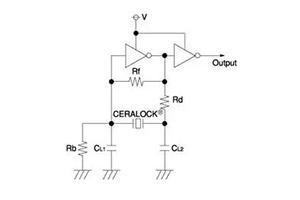陶瓷谐振器振荡电路元件的作用分析