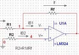 运放平衡电阻的理解