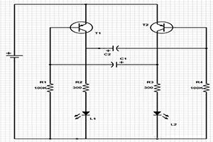 LED閃爍電路設計實例分析,含BOM和電路圖