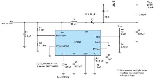 【干货】用于通信的高压升压和反相转换器