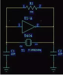 MCU振荡电路晶体旁的22pF电容是干什么的?附图分析