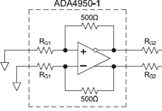 低固定增益差分放大器的噪声测量