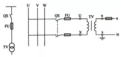 电压」互感器接线方式、接地和原理◎图