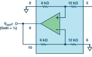 單IC增益模塊提供?到6的精密增益