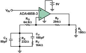 高速電流反饋型放大器如何驅動并均衡最長100米的VGA電纜