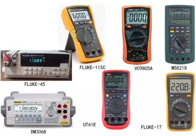 使用萬用表測量隨機噪聲信號