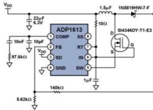 升压电源和高压DAC为天线和滤波器提供调谐信号