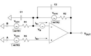 二阶系统的运算放大器总输出噪声计算