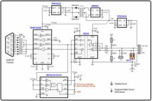 工業遠距離通信使用的RS-232至RS-485轉換器