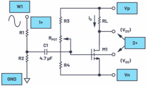 MOS晶體管共源極放大器