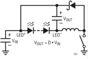 具集成型電壓限制功能的3A、1MHz降壓模式LED驅動器