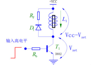 电磁铁驱动中续流电阻