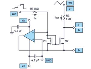 增强模式NMOS晶体管用作电流镜