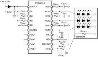 TPS92633-Q1来帮助您解决LED驱动芯片的过热和离板不确定性问题