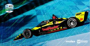 貿澤與Molex共同贊助Dale Coyne Racing with Vasser Sullivan車隊的整個2021 IndyCar賽季