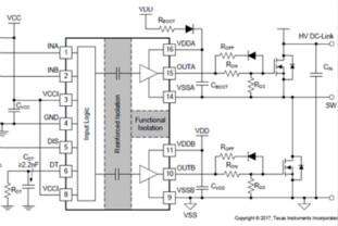 UCC21520在LLC電路中的應用
