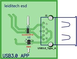 USB3.0接口保護ESD應用