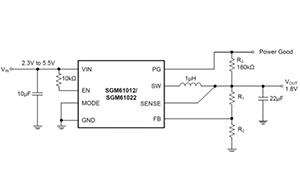 圣邦微超快瞬態響應的同步降壓轉換器SGM61012/SGM61022
