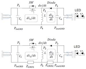 汽车电子非隔离型变换器传导与辐射EMI的产生,传播与抑制