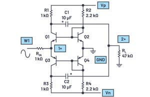 ADALM2000实验:跨阻放大器输入级