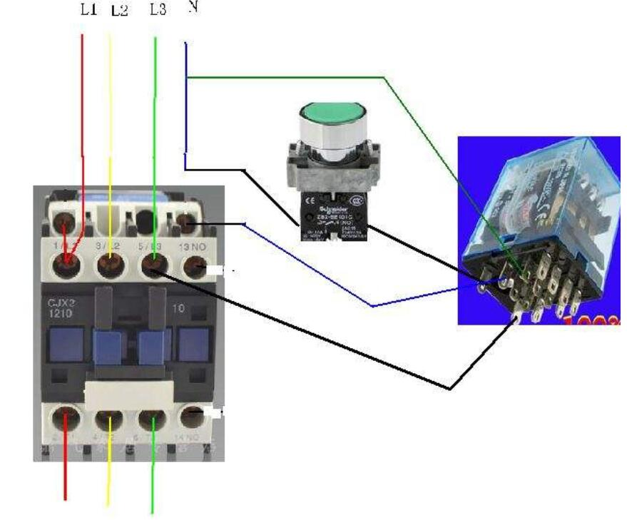 多款小型繼電器接線圖解析