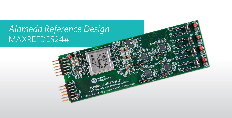 Maxim Integrated推出高效四路模拟输出参考设计,所需元件减少33%