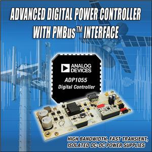 ADI推出集成PMBus™接口的高级数字电源控制器ADP1055