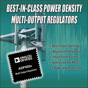 ADI推出系列集成式高效电源管理IC ADP505x系列